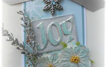 joy tag with a cool metal foil technique, christmas decorations, crafts, repurposing upcycling, seasonal holiday decor