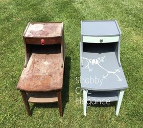 Old Dirty End Tables, Painted Furniture