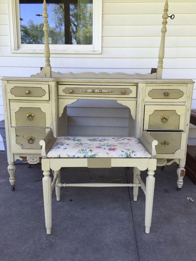 antique vanity, painted furniture