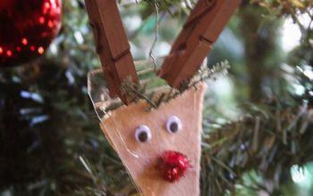 name tag badge reindeer ornament, christmas decorations, crafts, seasonal holiday decor