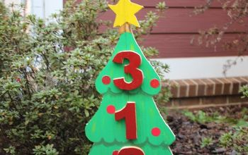 DIY Scrap Wood Christmas Tree Address Sign
