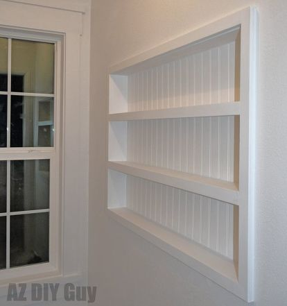 Built In The Wall Shelving Reclaiming Hidden Storage Space Bedroom Ideas Closet Diy