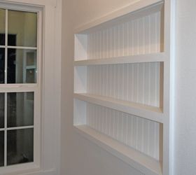 Built In The Wall Shelving Reclaiming Hidden Storage Space, Bedroom Ideas,  Closet, Diy