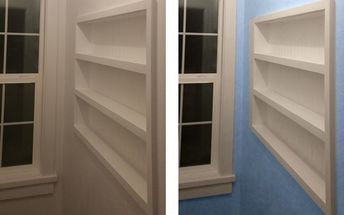 built in the wall shelving reclaiming hidden storage space, bedroom ideas, closet, diy, shelving ideas, storage ideas, woodworking projects