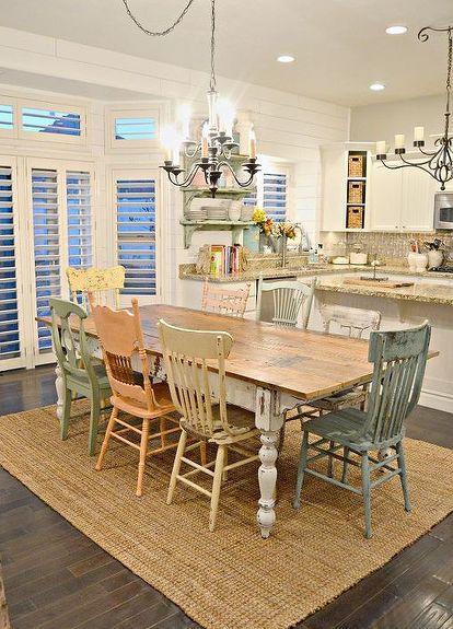 diy kitchen design vintage diy chippy farm table mismatched chairs diy kitchen design painted furniture diy chippy farm table wmismatched chairs hometalk