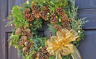 how to turn a fake christmas wreath into a real christmas wreath, christmas decorations, crafts, how to, wreaths