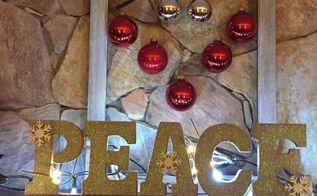 something new for my mantle, chalk paint, christmas decorations, fireplaces mantels, seasonal holiday decor, Finished
