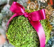 moss christmas ornaments, christmas decorations, crafts, repurposing upcycling, seasonal holiday decor
