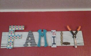 pallet wood family sign, crafts, pallet, repurposing upcycling, wall decor