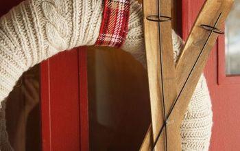 "DIY ""Joy"" Sign & Sweater Wreath"
