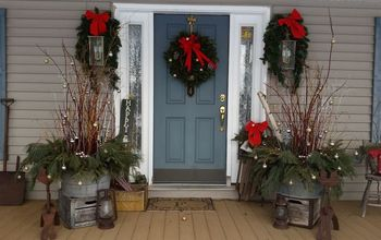 How I Dressed up My Front Porch for Christmas and the Winter Season.