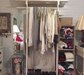 Free Standing Closet Made With An Old Door, Closet, Diy, Doors, How