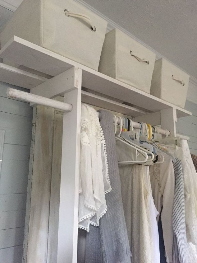 free standing closet made with an old door, closet, diy, doors, how to, repurposing upcycling, woodworking projects