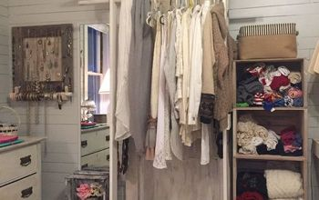 Free-standing Closet Made With an Old Door
