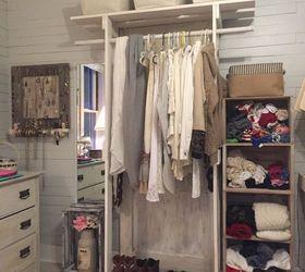 Free Standing Closet Made With An Old Door, Closet, Diy, Doors, How