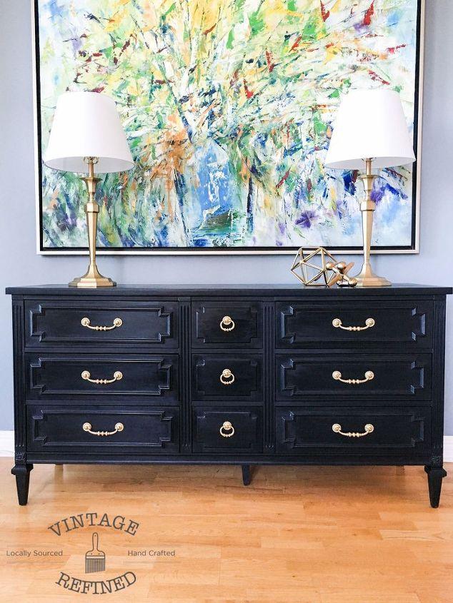 Chic Black Painted Dresser Hometalk