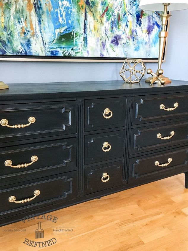 Lovely Chic Black Painted Dresser | Hometalk LU26