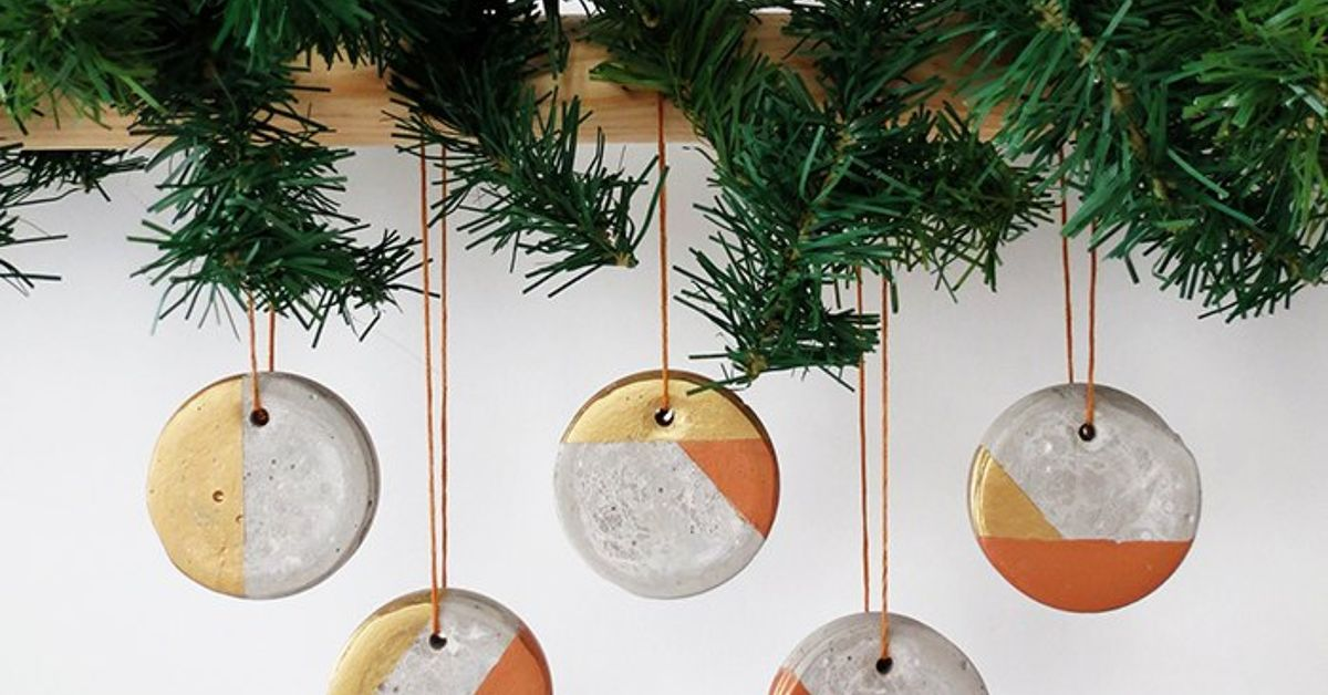 how to make christmas concrete ornaments hometalk