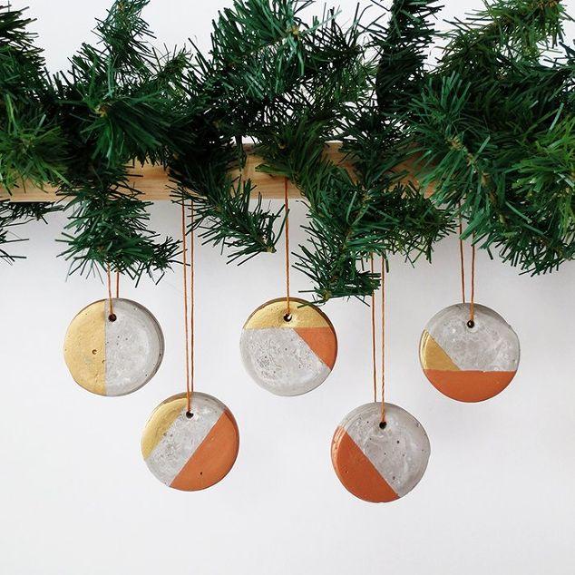 how to make christmas concrete ornaments, christmas decorations, concrete  masonry, crafts, how
