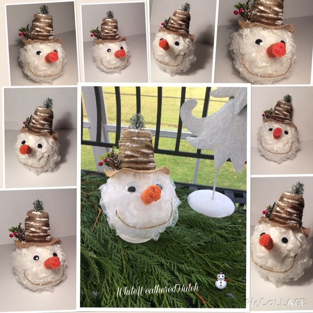 frosty the snowman diy here s the cutest snowman you ll ever see, christmas decorations, crafts, seasonal holiday decor