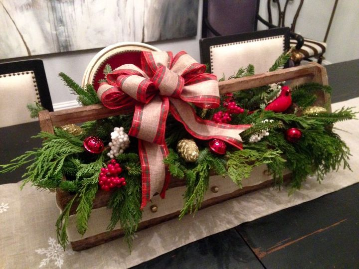 Thrifty vintage toolbox christmas centerpiece hometalk