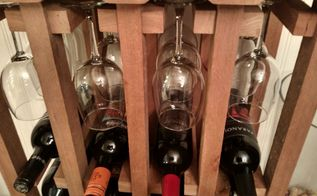how to build this simple elegant wine and glass rack from pallet, diy, home decor, how to, pallet, repurposing upcycling, The glasses are held at the top