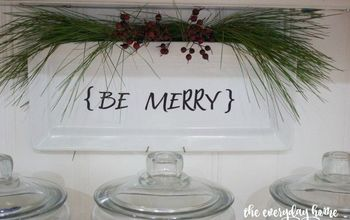 10-Minute Christmas {Be Merry} Plate