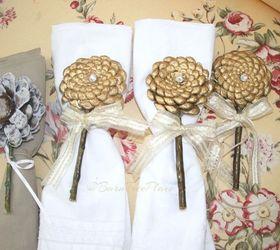Pinecone Flower Napkin Rings Hometalk