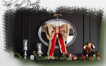 Drab to Christmas Fab Mirror Focal Point
