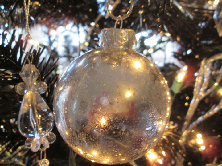 how to make mercury glass ornaments on a dime, christmas decorations, crafts, home decor, how to, seasonal holiday decor