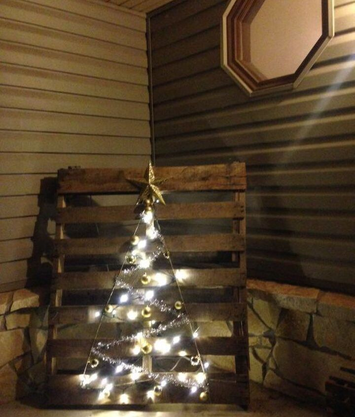 christmas tree pallet, christmas decorations, crafts, pallet