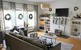 Black White And Green Modern Christmas Home Tour Decorations Decor