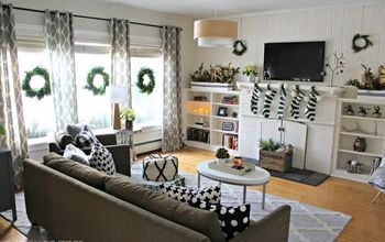 Black, White, and Green Modern Christmas Home Tour