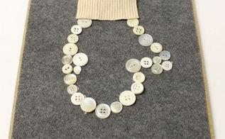 diy mitten art with buttons, crafts