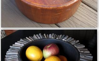 thrift store wood salad bowl makeover, crafts, repurposing upcycling