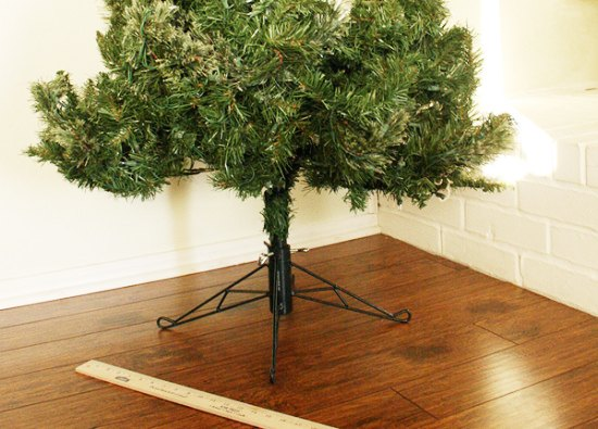 cover your ugly christmas tree base simple fix christmas decorations container gardening how - Ugly Christmas Decorations