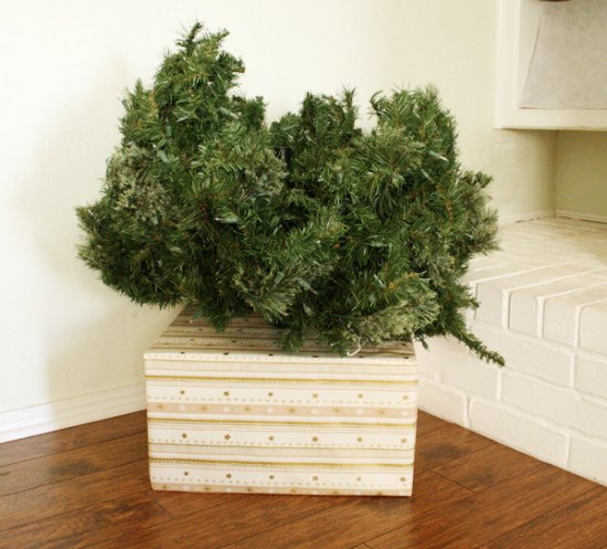 cover your ugly christmas tree base simple fix christmas decorations container gardening how