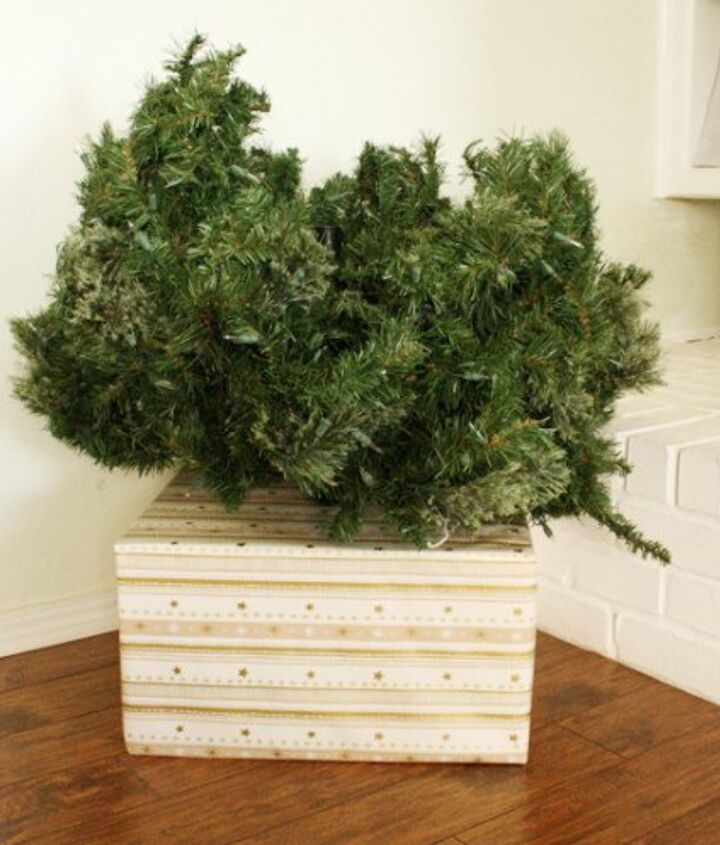 cover your ugly christmas tree base simple fix, christmas decorations, container gardening, how to, repurposing upcycling, seasonal holiday decor