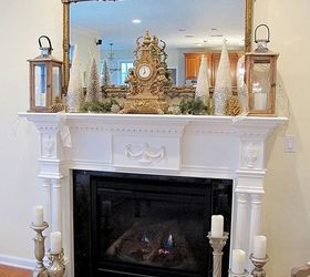 A Simple Inexpensive Holiday Mantel With Casual Elegance, Christmas  Decorations, Fireplaces Mantels, Home