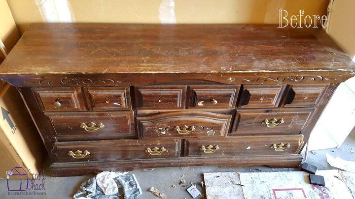 turning an old dresser into a media console, painted furniture, repurposing upcycling