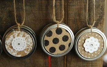 Up Cycled Christmas Ornaments With Canning Jar Lids