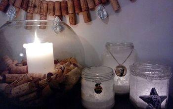 Diy Sea Salt Lanterns #homeforchristmas