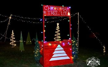 Christmas Decor:  We Built a Christmas Tree Lot!