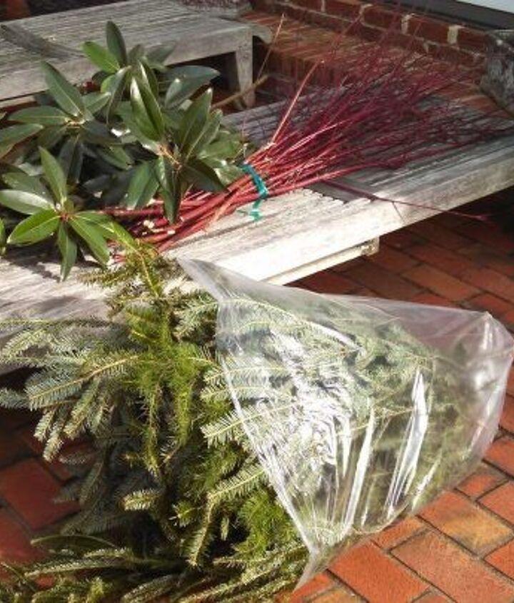Supplies: garden remnants