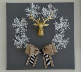 Winter Holiday Canvas Wreath Diy, Christmas Decorations, Crafts, How To,  Seasonal Holiday