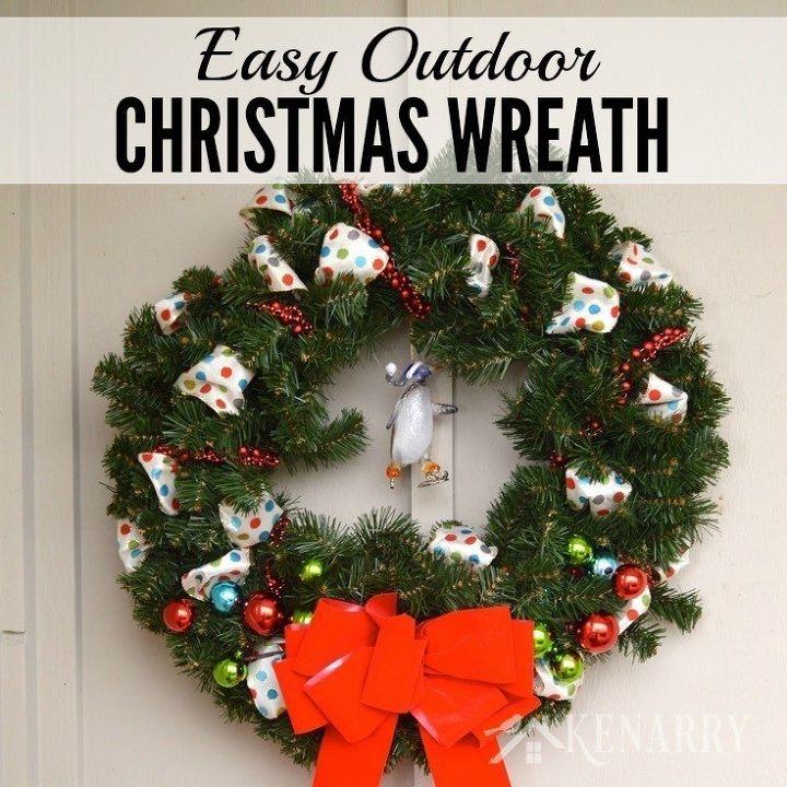 easy outdoor christmas wreath hometalk