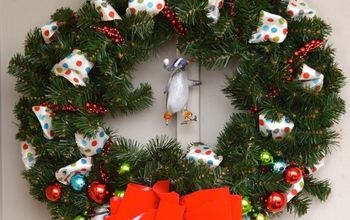 Easy Outdoor Christmas Wreath