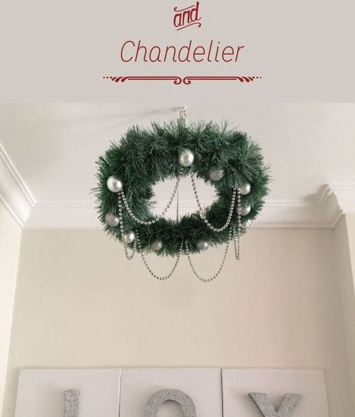 the sparkling corner and chandelier, christmas decorations, crafts, home decor, seasonal holiday decor