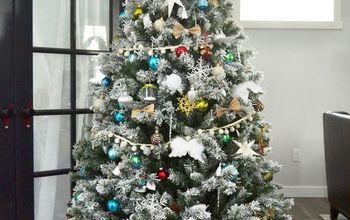 DIY No-Sew Faux Fur Christmas Tree Skirt