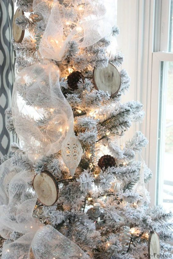 Rustic Glam Office Christmas With Diy Wood Slice Ornaments Decorations Crafts Seasonal